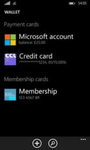 App windows Wallet