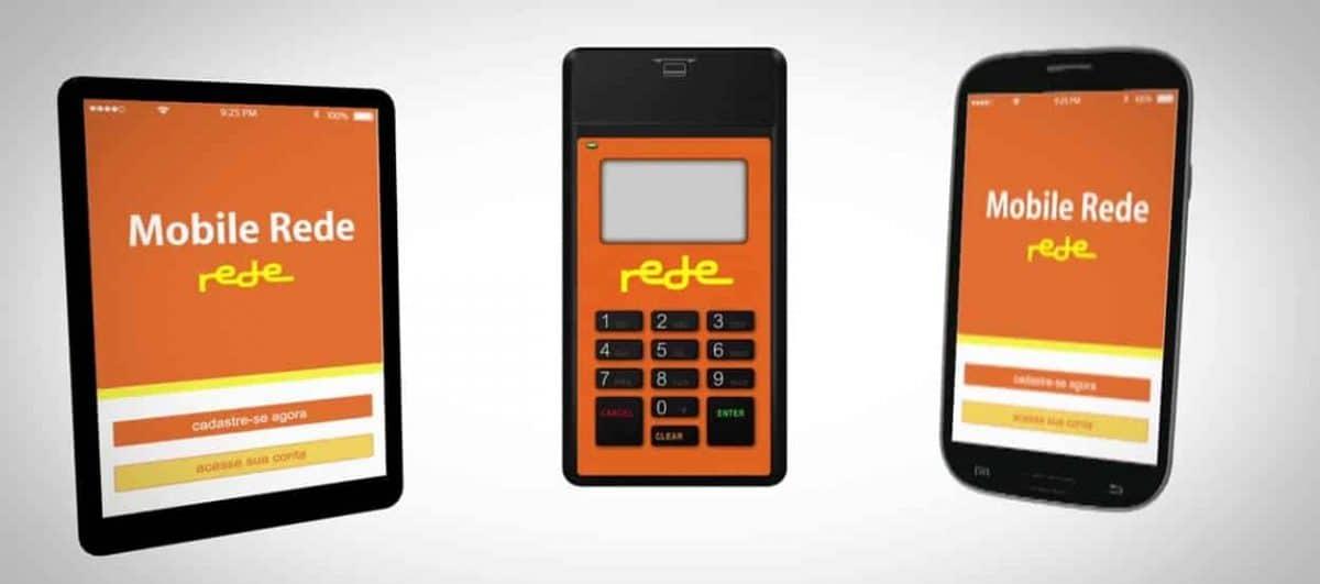 Ilustração do Mobile Rede entre celular e tablet