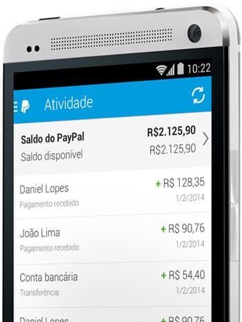 App PayPal no celular
