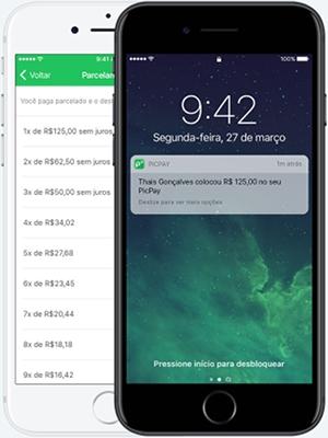 App PicPay mostrando transferencia