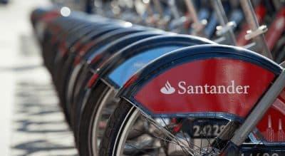 Bicicletas com a logomarca Santander