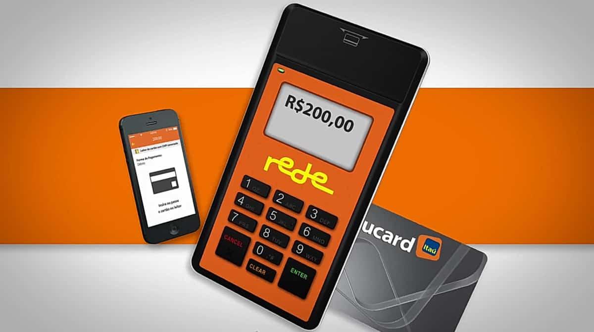 Mobile Rede com cartão e celular