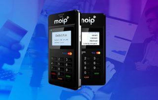 Máquina de cartão Moip em vários ângulos