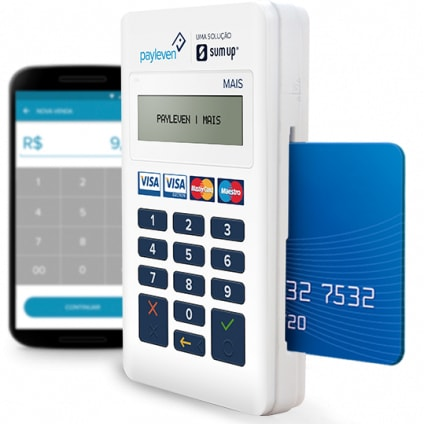 Payleven Mais com celular e cartão
