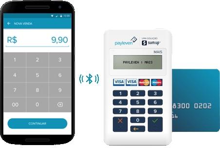Payleven Mais conectado ao celular via Bluetooth