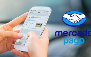 celular mostrando pagamento via Mercado Pago