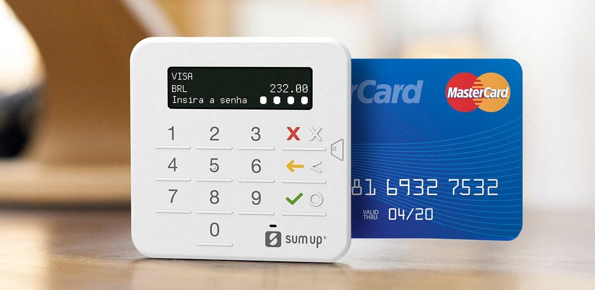 SumUp Top com cartão Visa