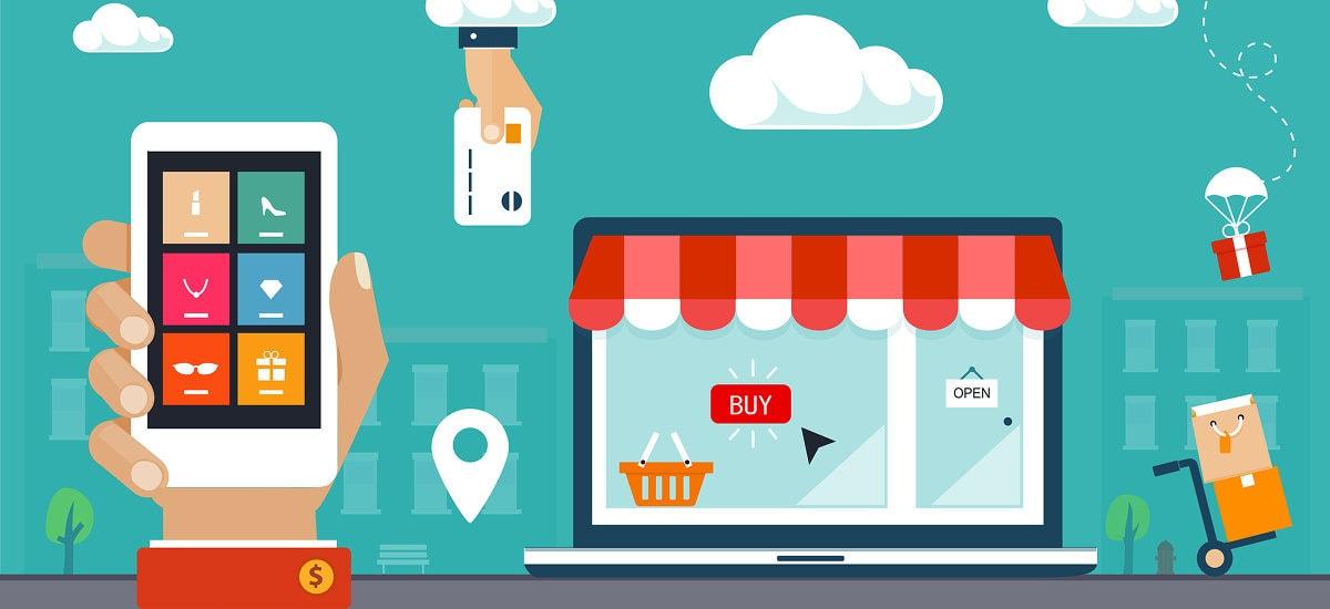 ilustração loja virtual