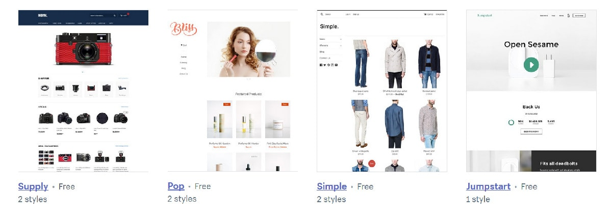 modelo de lojas shopify