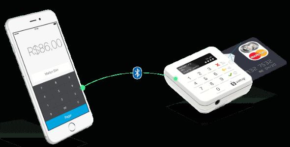 SumUp ligando-se a celular via Bluetooth