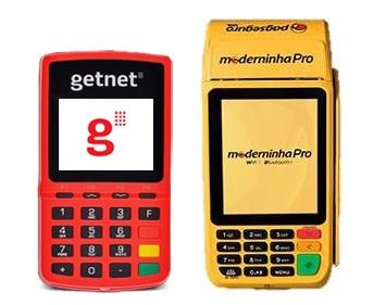 Moderninha Pro e Vermelhinha GetNet