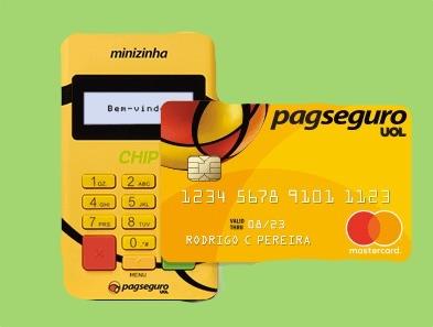 Minizinha Chip e cartão pré-pago PagSeguro