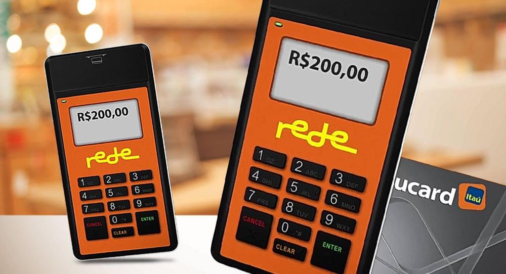 Ilustrações do Mobile Rede em fundo mostrando uma loja