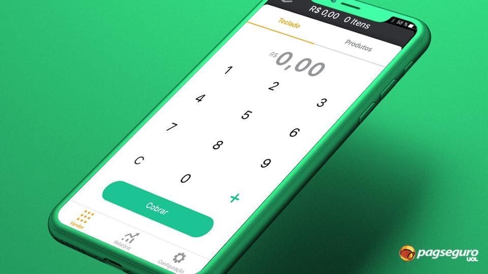 Aplicativo PagSeguro Vendas no Celular