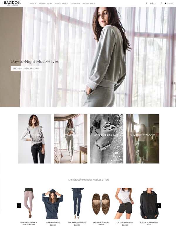 Templates de lojas virtuais Shopify