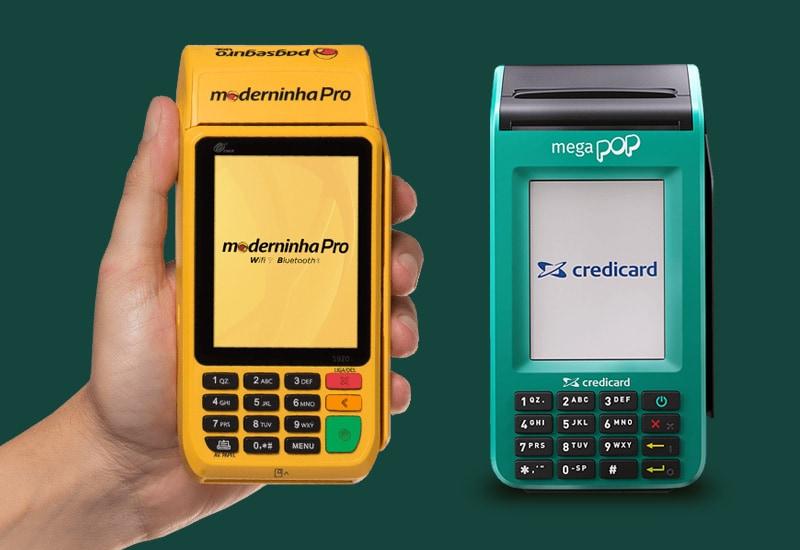 Moderninha Pro e Mega Pop em fundo verde escuro