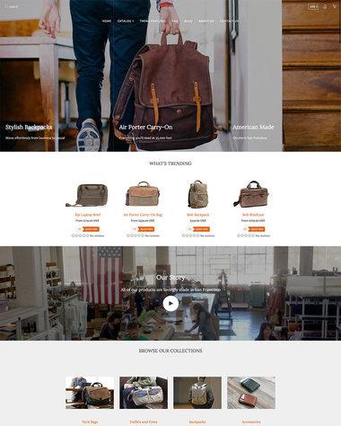 Modelo de tema da loja virtual Shopify