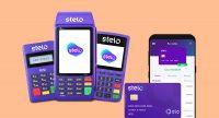 Máquinas, app e Cartão pré-pago Stelo