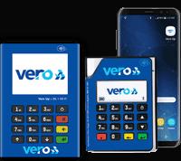 Ilustração das maquininhas Vero Up Bluetooth and Vero Up 3G-Wifi