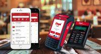 Máquinas de Cartão e App iFood em mesa de restaurante