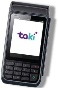 Ilustração da máquina de cartão Taki