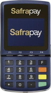Ilustração da máquina de cartão SafraPay Sem Bobina