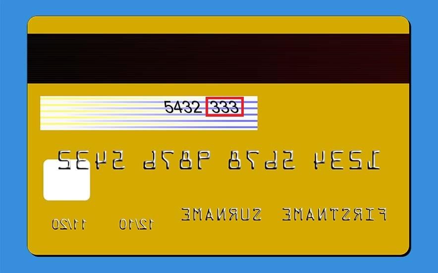 Ilustração mostrando número de CVV do cartão de crédito