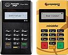 Maquininhas de cartão Mercado Pago Point Mini e Minizinha PagSeguro de frente