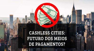 Ilustração de uma cidade e um símbolo de não aceitação sobre notas de dinheiro