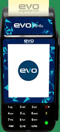 Ilustração da máquina de cartão Evo Multi