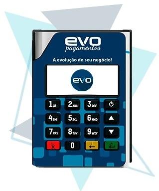 Ilustração da máquina de cartão Evo Móvel