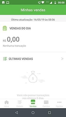 Ilustração mostrando tela de vendas do app PagBank