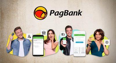 Famosos mostrando app do PagBank