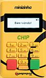 Ilustração da máquina de cartão Minizinha Chip