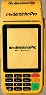 Ilustração da máquina de cartão Moderninha Pro