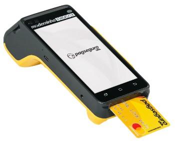 Moderninha Smart com cartão pré-pago inserido