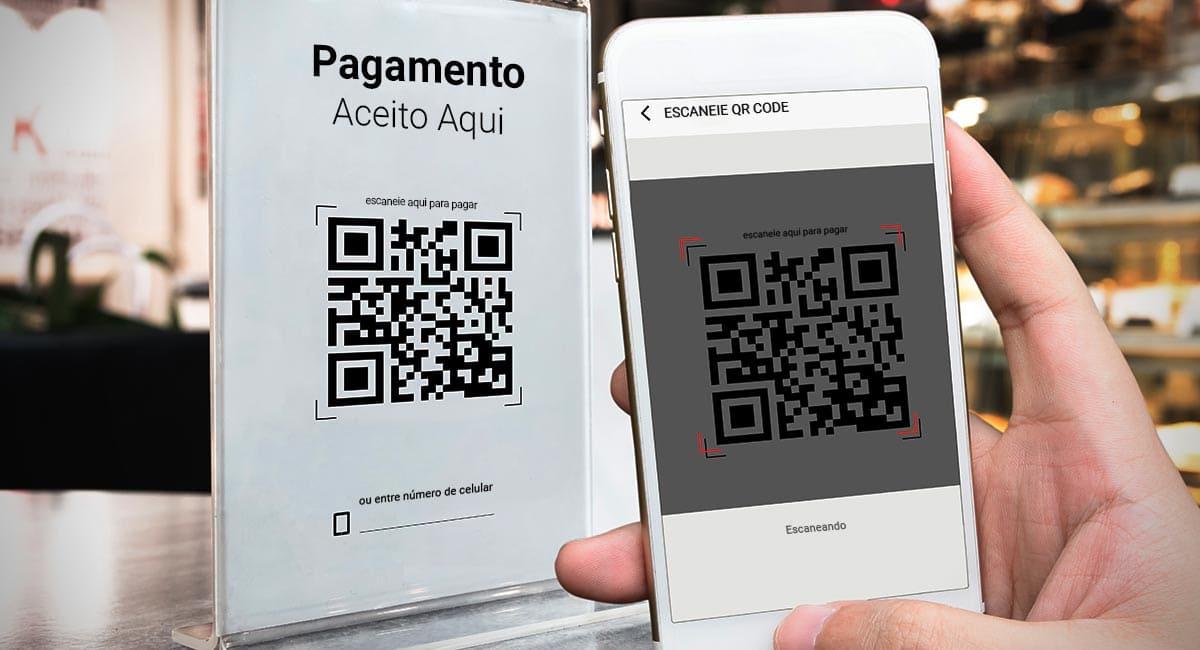 Ilustração mostrando como usar QR Code