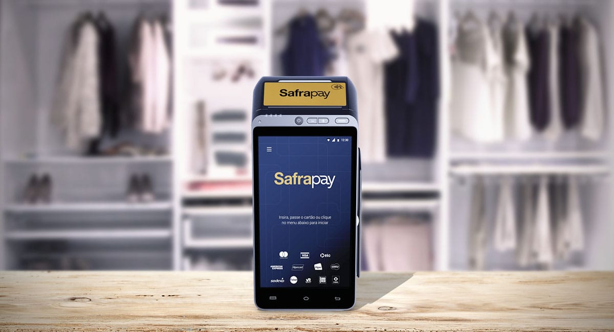 Máquina de cartão SafraPay Smart