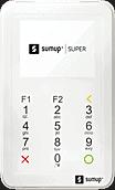 Ilustração da máquina de cartão SumUp Super