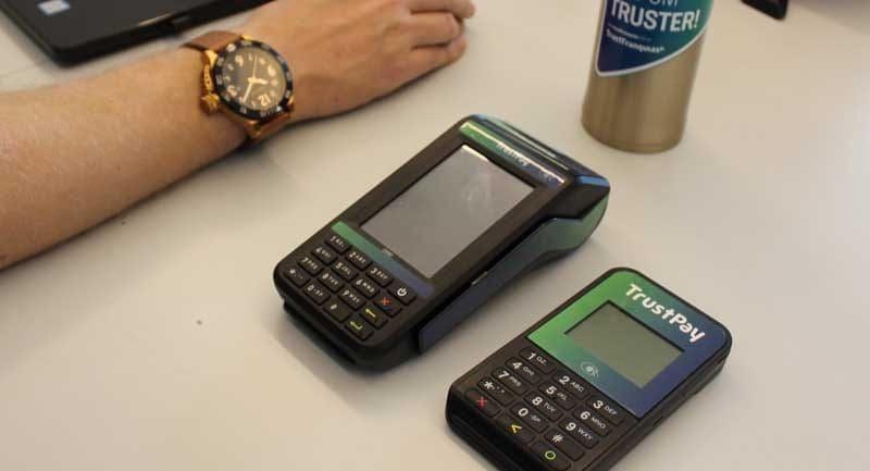 Máquina de cartão TrustPay Slim e TrustPay Ultra