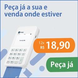 Banner SumUp On oferecendo maquininha por R$18,90