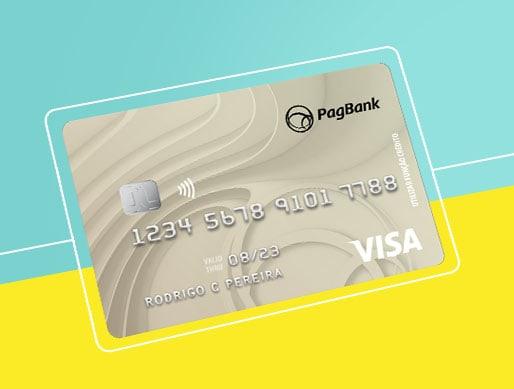 Cartao prateado PagBank da Pagseguro de bandeira Visa