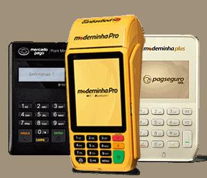 Moderninha Plus e Pro e Mercado Pago Point Mini