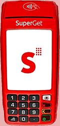 Máquina de cartão Superget com Bobina