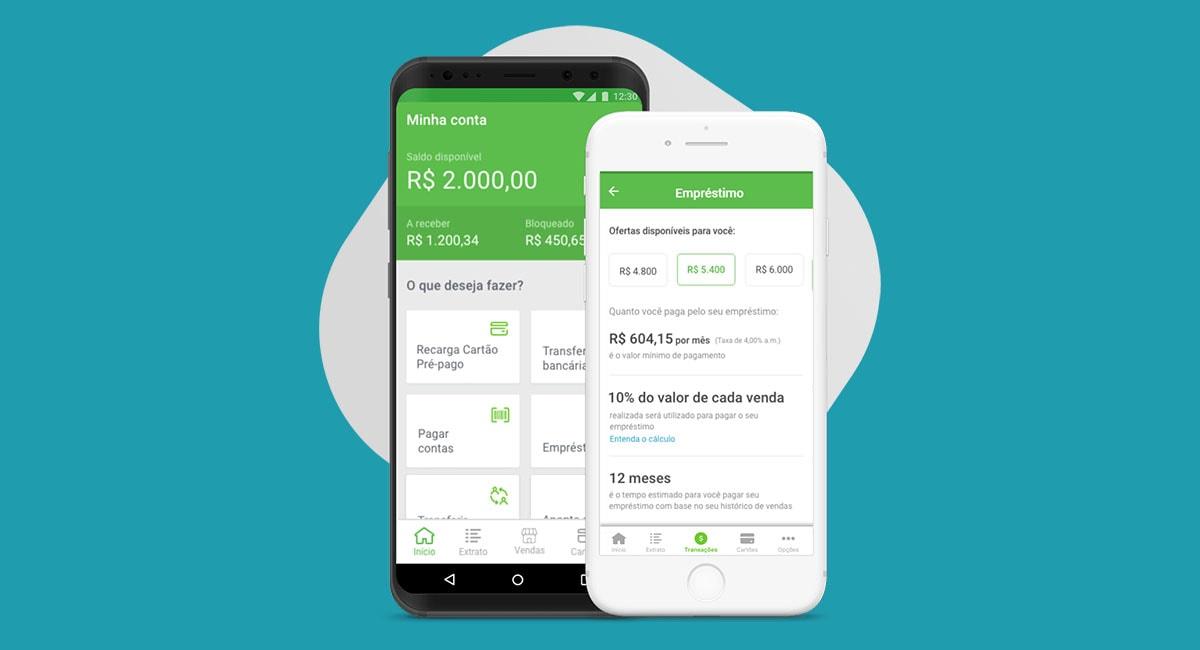 App PagBank mostrando tela de empréstimos