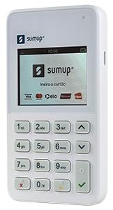Ilustração da SumUp On com tela de início