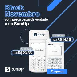 banner com preço da promoção Black Friday das maquininhas SumUp On e Total