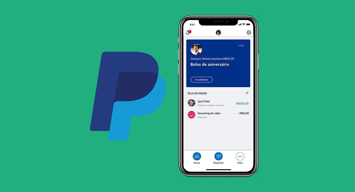 App PayPal recebendo pagamentos