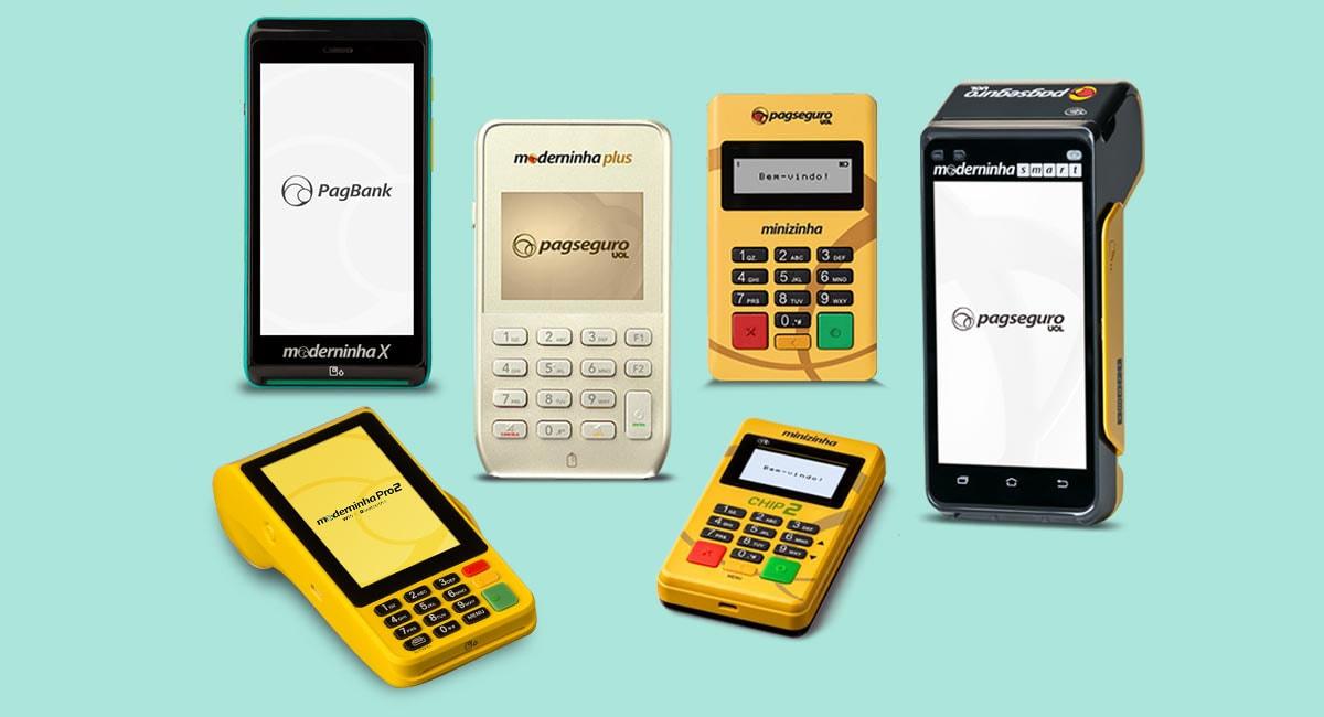 Moderninha ou Minizinha: maquininha X, Plus, Pro 2, CHip, Smart e maquininha para celular