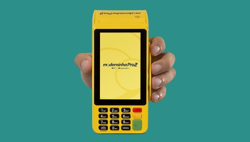 Máquina de cartão Moderninha Pro 2